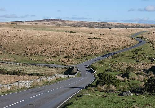 Photo Gallery Image -  Views towards Laughter Tor on the B3357, Dartmoor
